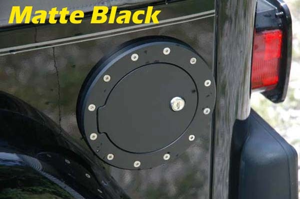 All Sales 6032gkl Jeep Jk Glossy Black Locking Fuel Door