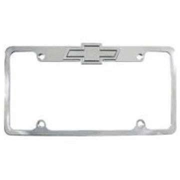 Polished Billet Chevrolet Light Up License Plate Frame All Sales ...