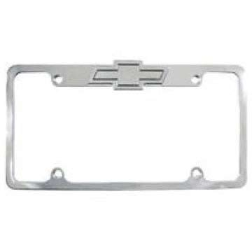 All Sales 94000TL: Chevy License Plate Frame Bow Tie Lighted Brushed ...