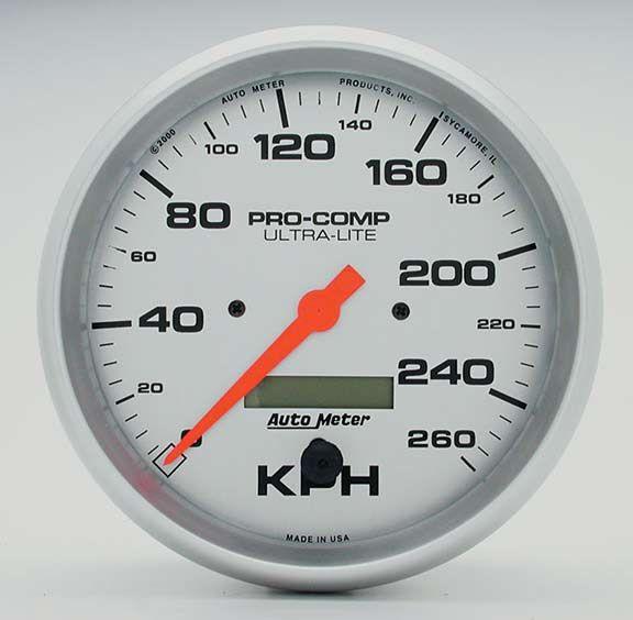 Hyundai Warranty Check >> Autometer 4489M: 5 Inch Speedometer 260 Kph Metric