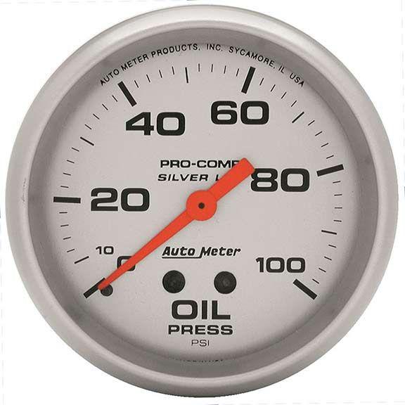 Autometer 4621: Ultra-Lite Liquid-Filled Series; Oil Press