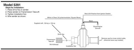 Autometer 5291: Hall Effect Sdo Sender; For Use With Autometer ... on