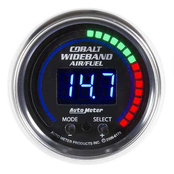 Autometer 6178  Cobalt Series  A  F Ratio  Wideband Gauge