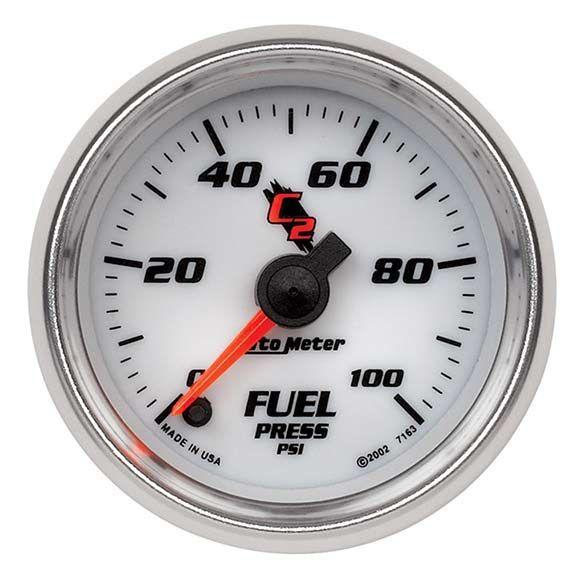 Autometer 7163: C2 Series; Fuel Press Gauge Universal