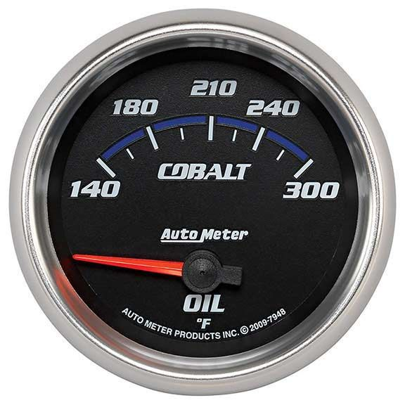 Autometer 7948: Cobalt Series; Oil Temp Gauge Universal