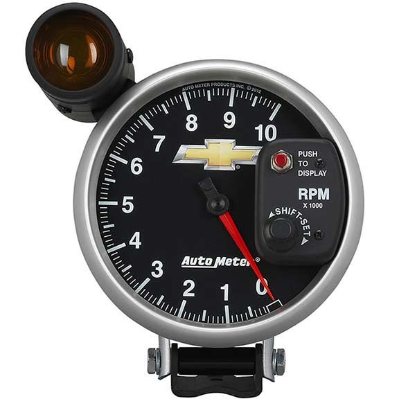 Autometer 880445  Tachometer Chevy Bowtie With Shift Light