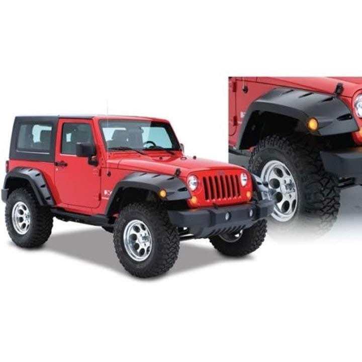 Jeep Wrangler Stock Tire Size >> Jeep Fender Flares Pocket Style ( Front ) 1997-2006 Jeep Wrangler Bushwacker 1002907