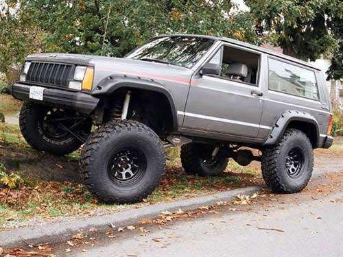 jeep cherokee xj fender flares pocket style set of four bushwacker. Cars Review. Best American Auto & Cars Review