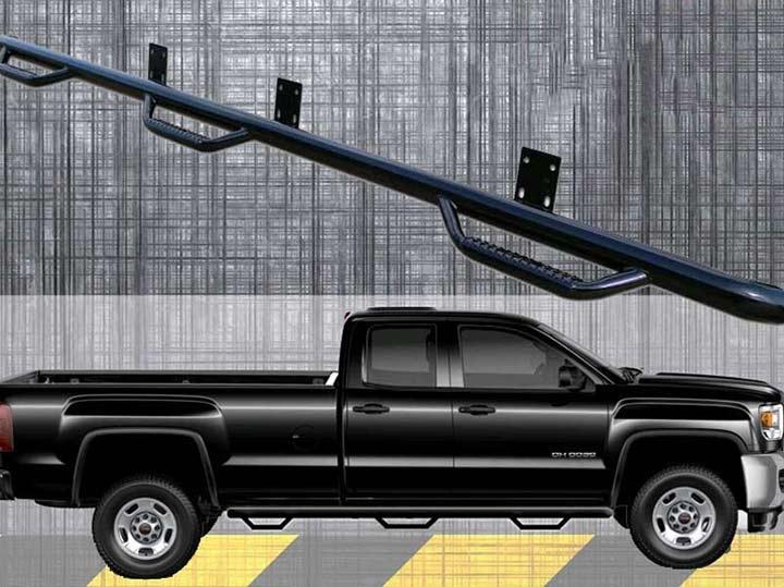 2015 Chevrolet Silverado 2500 Hd Double Cab Wheel To Wheel Nerf-Step Bar N-Fab C15102QC-6-TX