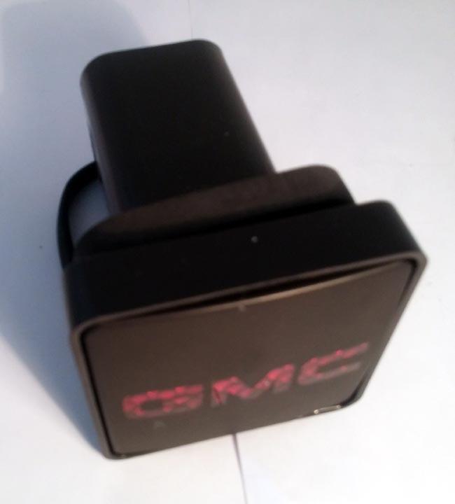 pilot crg gmc logo light  hitch receiver cover