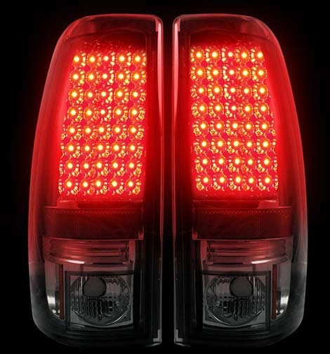 Led Truck Tail Lights >> Recon 264173BK: Smoked LED Tail Lights 99-07 Chevy / GMC Truck