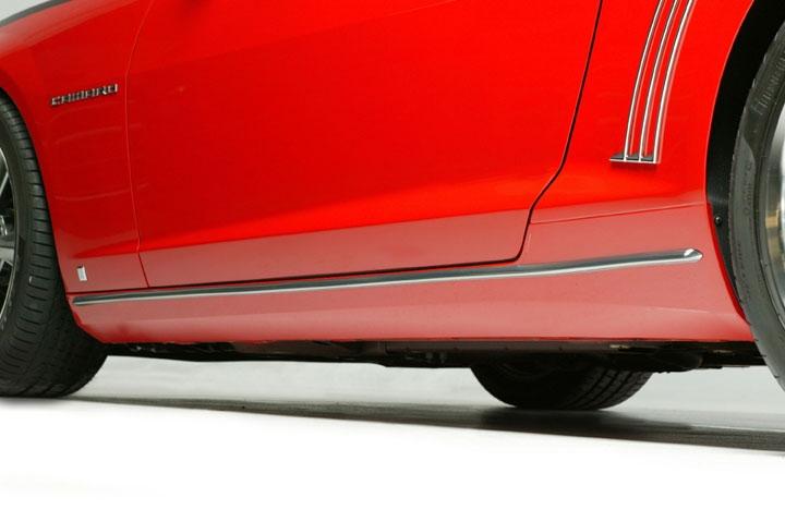 Retro Usa Ca1rm A 2010 Up Camaro Chrome Rocker Panel Molding