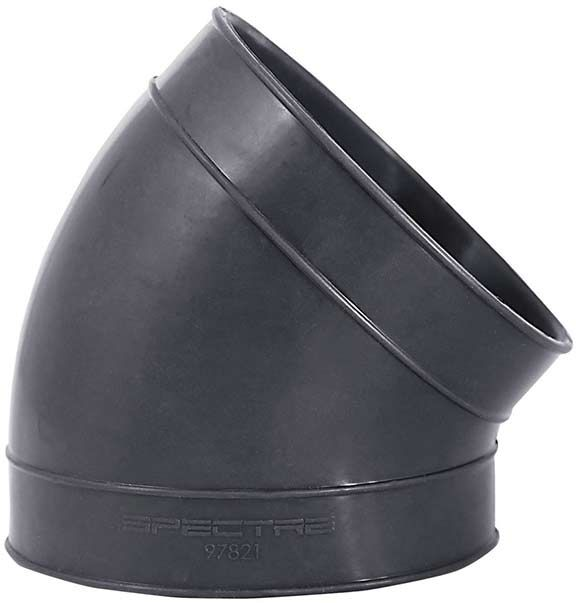 Gm Performance Air Intake Elbow Rubber Black Chevy Small: Spectre 97821: Intake Coupler 4 In 45 Degree Double Flex