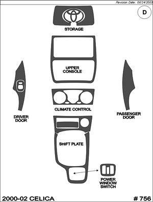 2000 2002 Toyota Celica Dash Kit Superior Dash 756 Wd