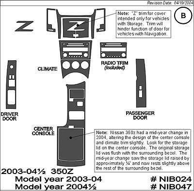 Nissan 350z Carbon Fiber Dash Kit 2004 06 Superior Dash Nib047 Cf