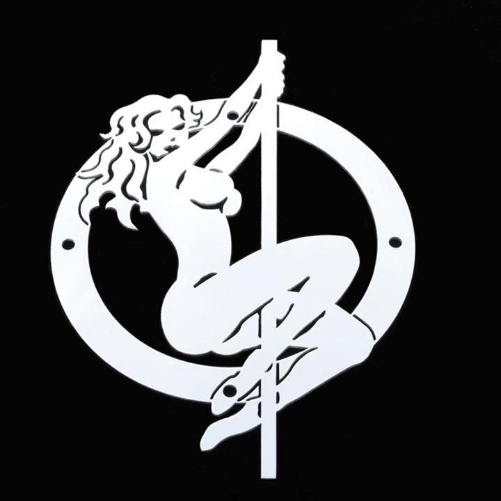 Available. Stripper Pole Dancer Grille Emblem Stainless Steel TRex L1014