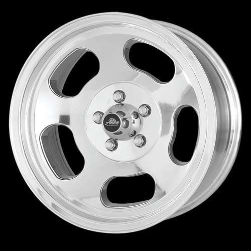 15x7//5x4.75 American Racing Hot Rod Ansen Sprint VNA69 Polished Wheel