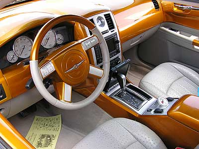 2005 chrysler 300c pictures custom interior check out the ostrich leather seats. Black Bedroom Furniture Sets. Home Design Ideas