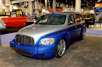 Custom Rims on Bumper Cover And Oversized Wheels  Featured At The Sema Car Show