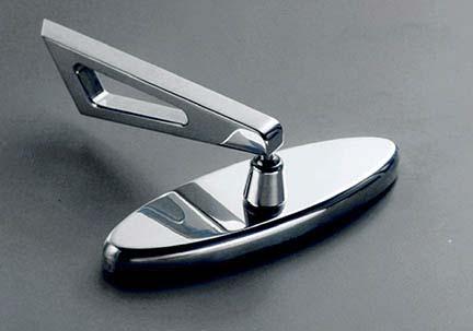 billet oval side mirror hot rod custom old school. Black Bedroom Furniture Sets. Home Design Ideas