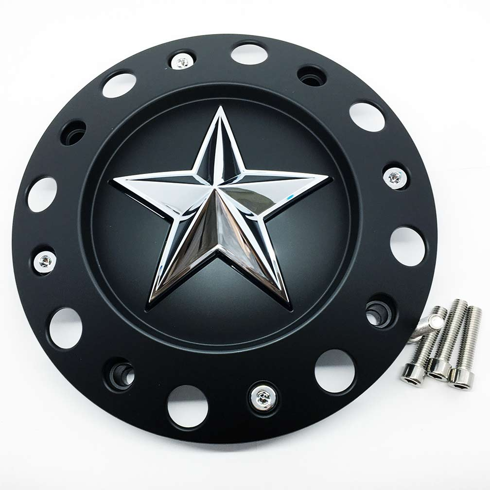 Black Center Cap For Kmc Xd Series Rockstar Wheel