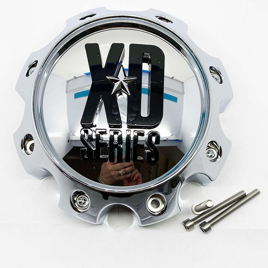 Chrome Center Cap For Kmc Xd Series Addict /spy Wheel 8 Bolt Pattern