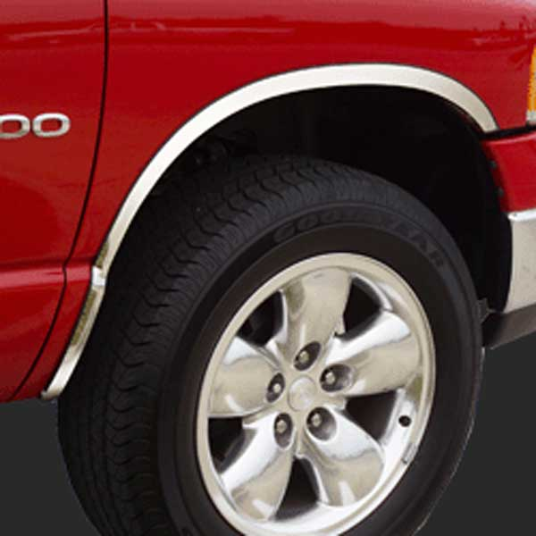 Chevy Silverado 1500/2500/3500 (non-dually) Stainless Steel Fender Trim