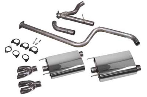 Exhaust System, 1997-08 Grand Prix PowerFlo w/Dual/Dual Tips