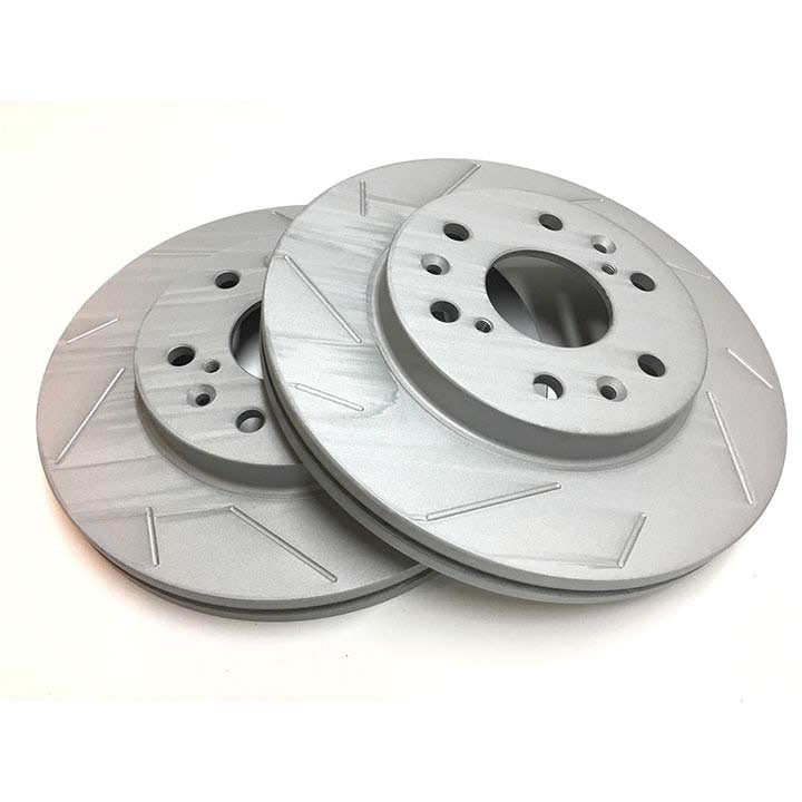 Slotted Brake Rotors - Front Pair 12.99 Inch