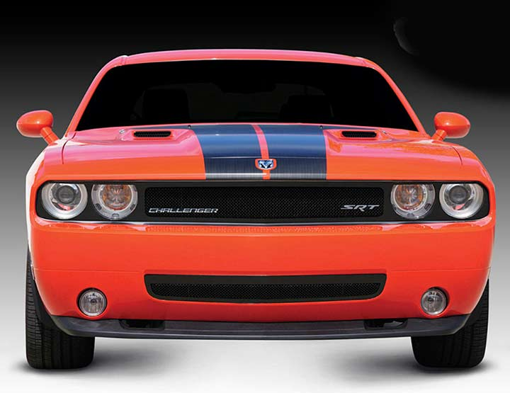 Black Upper Class Mesh Grille Dodge Challenger - Phantom