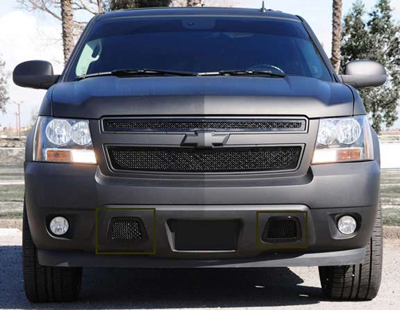 Chevrolet Tahoe / Avalanche Lower Bumper Tow Hook Black Grilles