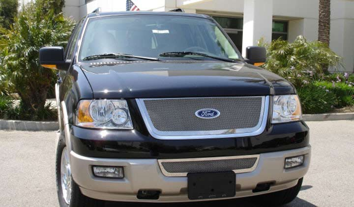 2003-06 Ford Expedition Billet Grille Overlay - Bolt on (with Mesh design grille)