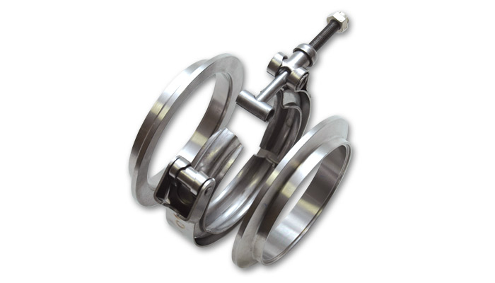 T304 Stainless Steel V-Band Flange Assembly for 2 inch O.D. Tubing