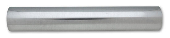 2.5 inch O.D. Universal Aluminum Tubing (5 foot long Straight Pipe) - Polished